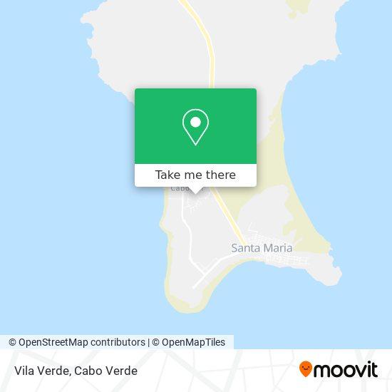 Vila Verde mapa