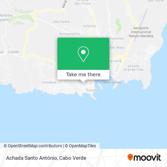 Achada Santo António mapa