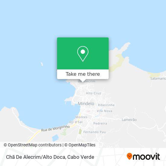 Chã De Alecrim/Alto Doca mapa
