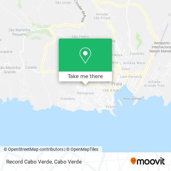 Record Cabo Verde mapa