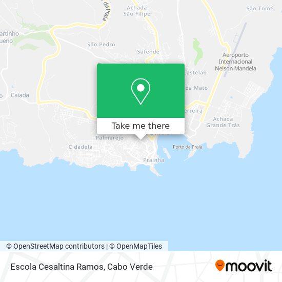 Escola Cesaltina Ramos mapa