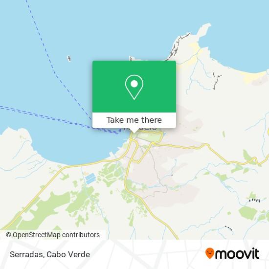 Serradas mapa