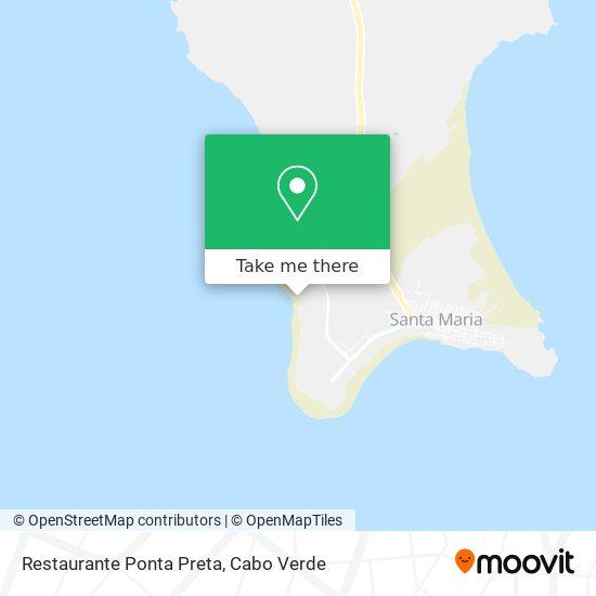 Restaurante Ponta Preta mapa