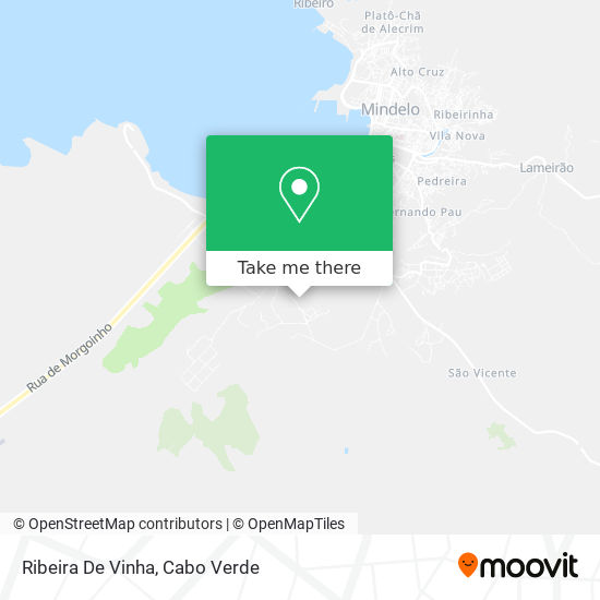 Ribeira De Vinha mapa