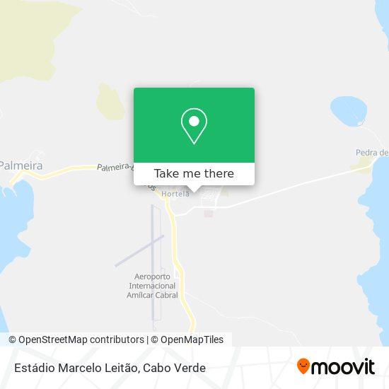 Estádio Marcelo Leitão mapa