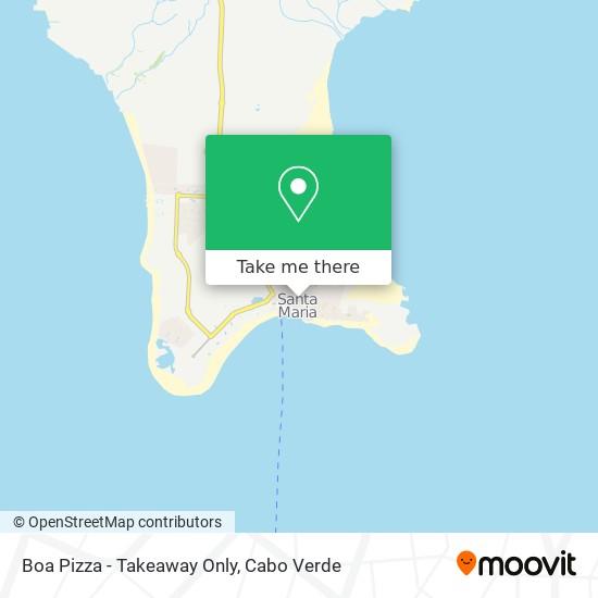 Boa Pizza - Takeaway Only mapa