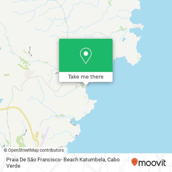 Praia De São Francisco- Beach Katumbela mapa