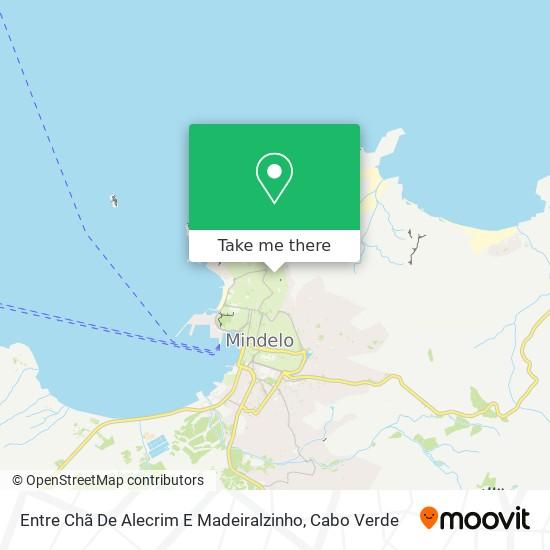 Entre Chã De Alecrim E Madeiralzinho mapa