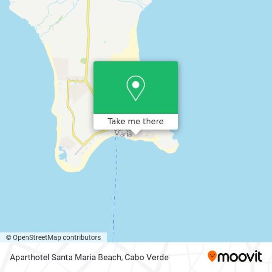 Aparthotel Santa Maria Beach mapa
