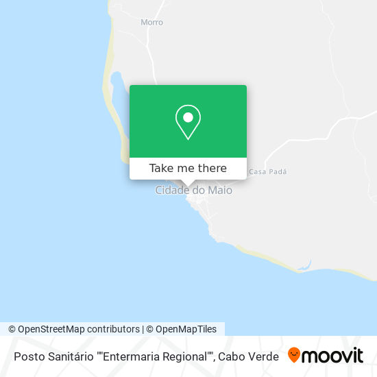 "Posto Sanitário """"Entermaria Regional"""" mapa"