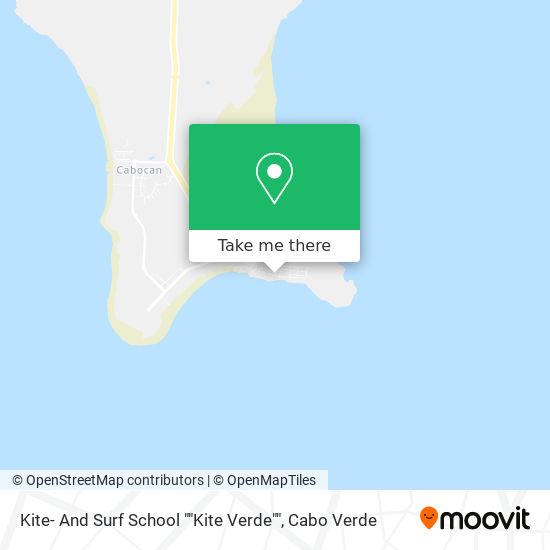 "Kite- And Surf School """"Kite Verde"""" mapa"
