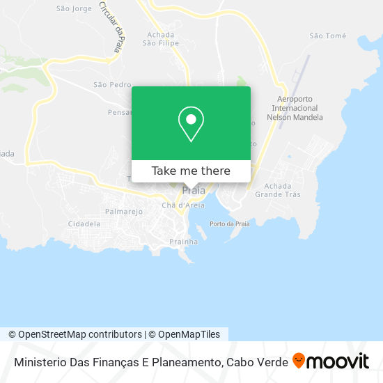 Ministerio Das Finanças E Planeamento mapa