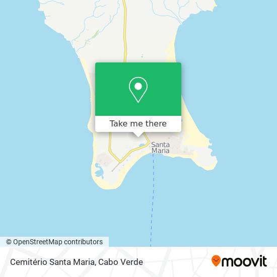 Cemitério Santa Maria mapa