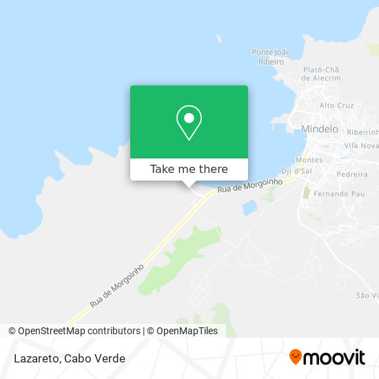 Lazareto mapa
