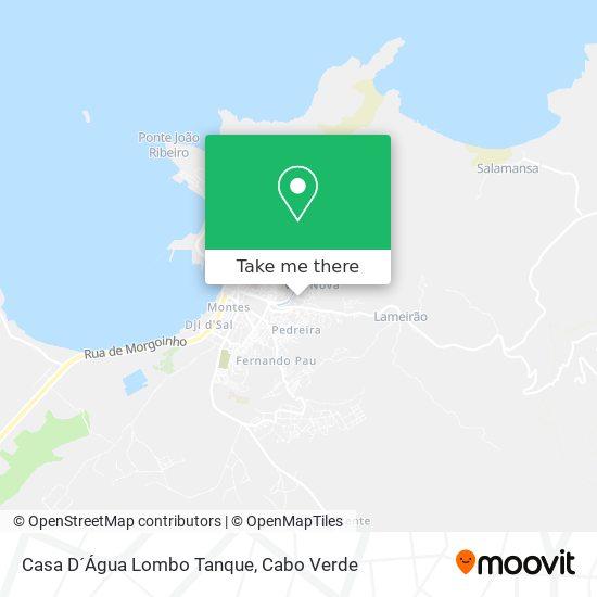 Casa D´Água Lombo Tanque mapa