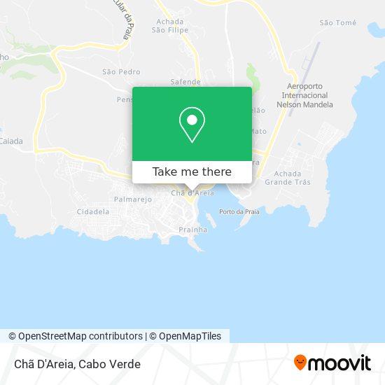 Chã D'Areia mapa