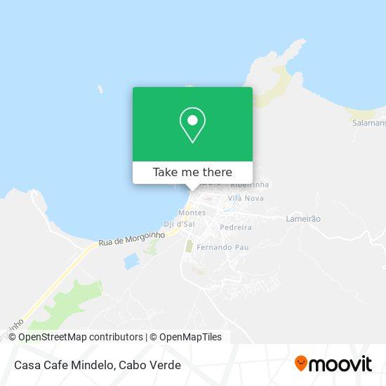 Casa Cafe Mindelo mapa