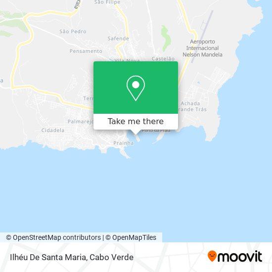 Ilhéu De Santa Maria mapa