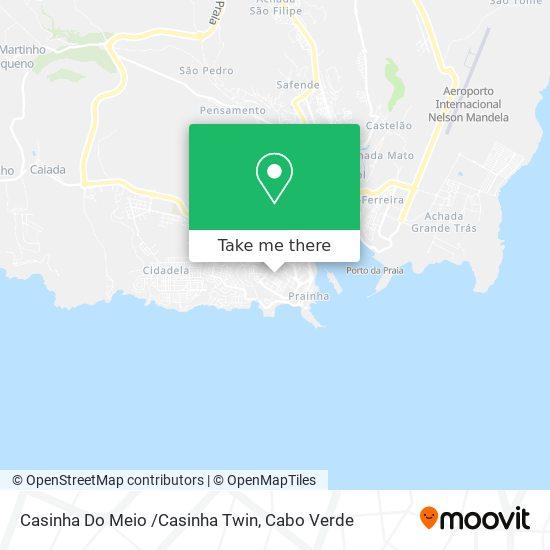 Casinha Do Meio /Casinha Twin mapa