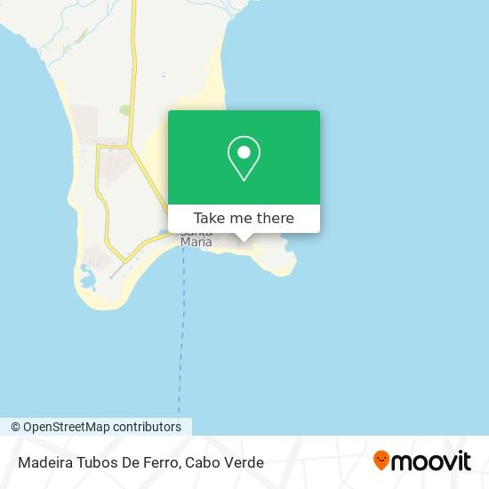 Madeira Tubos De Ferro mapa