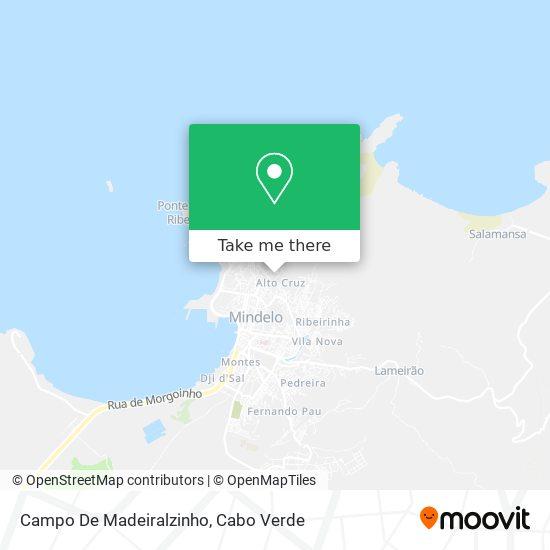 Campo De Madeiralzinho mapa