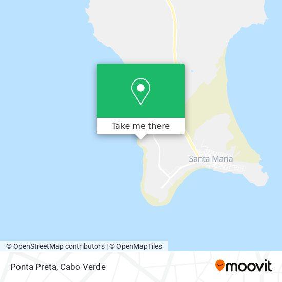 Ponta Preta mapa