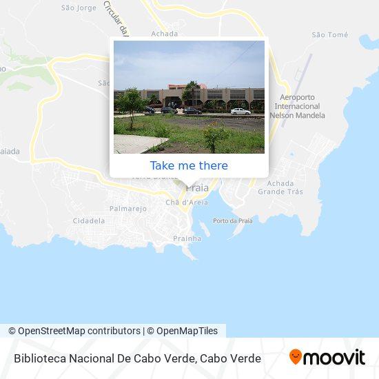 Biblioteca Nacional De Cabo Verde mapa