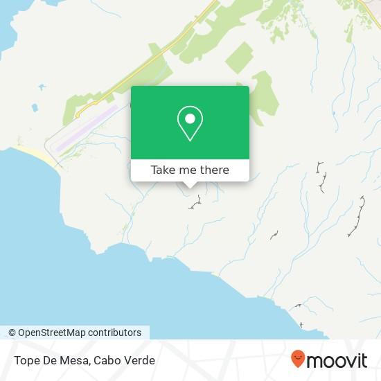Tope De Mesa mapa