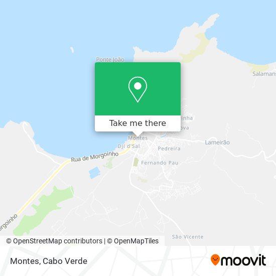 Montes mapa