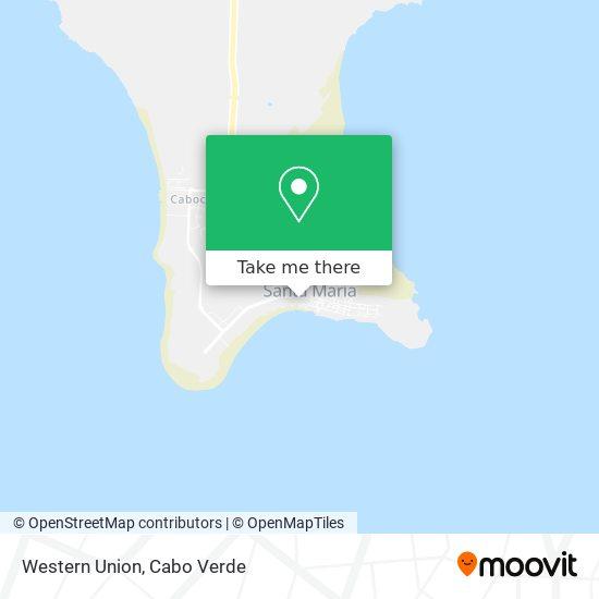 Western Union mapa