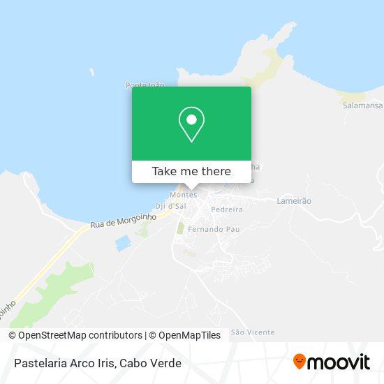 Pastelaria Arco Iris mapa