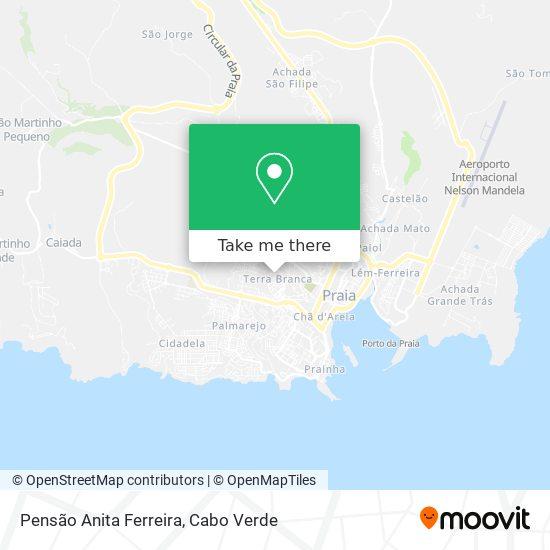 Pensão Anita Ferreira mapa