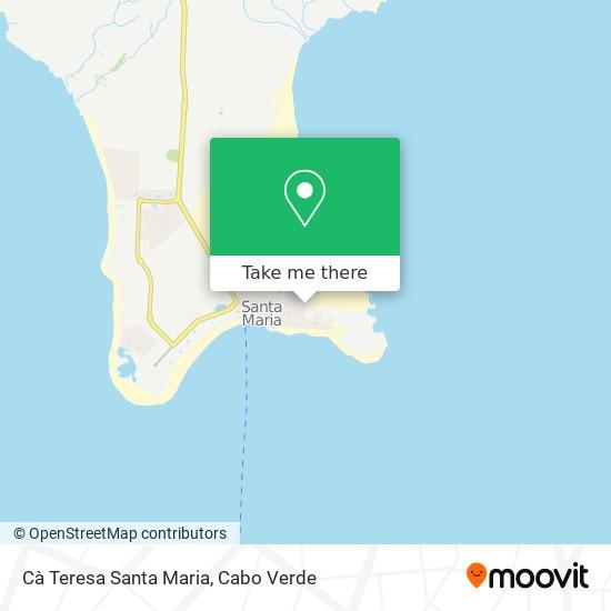 Cà Teresa Santa Maria mapa