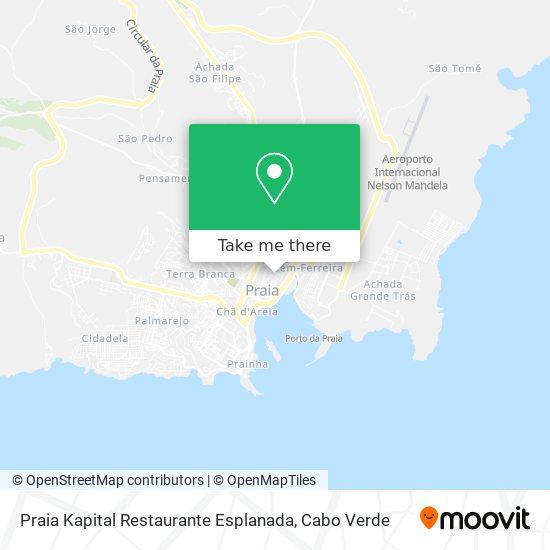 Praia Kapital Restaurante Esplanada mapa