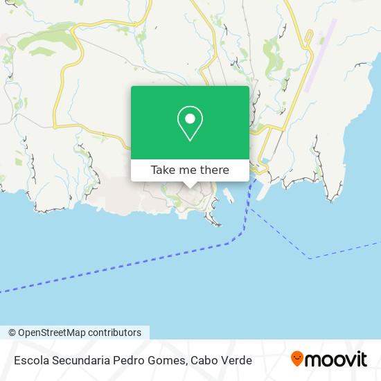 Escola Secundaria Pedro Gomes mapa
