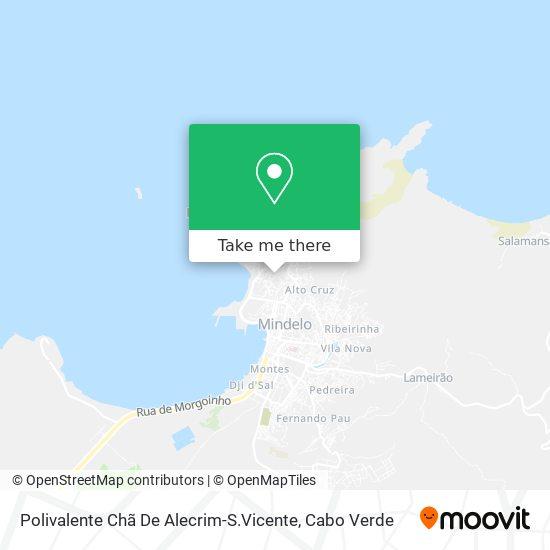Polivalente Chã De Alecrim-S.Vicente mapa