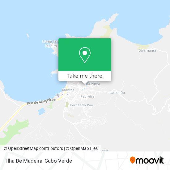 Ilha De Madeira mapa