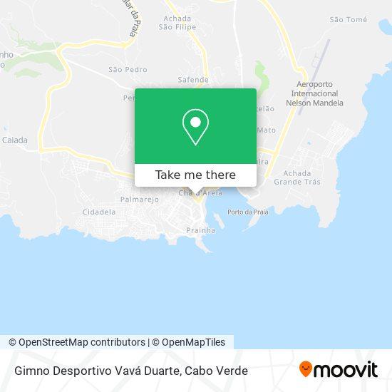 Gimno Desportivo Vavá Duarte mapa