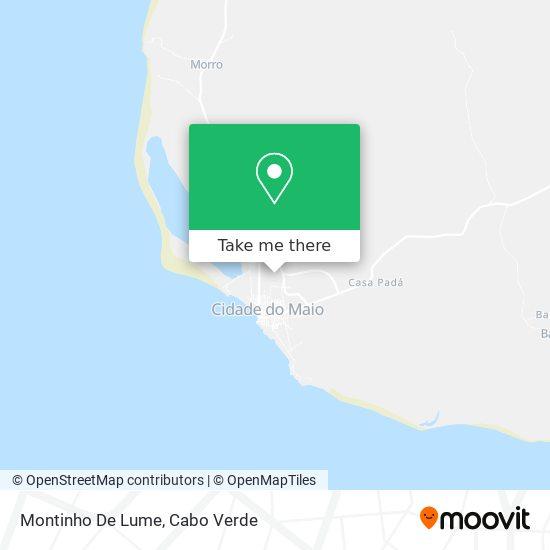 Montinho De Lume mapa