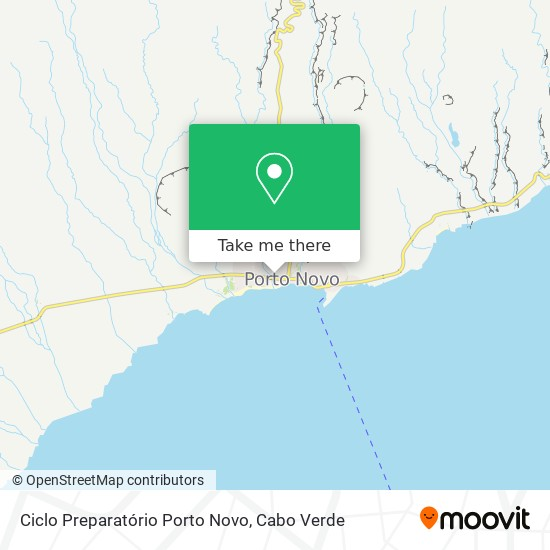 Ciclo Preparatório Porto Novo mapa