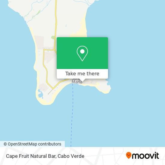 Cape Fruit Natural Bar mapa
