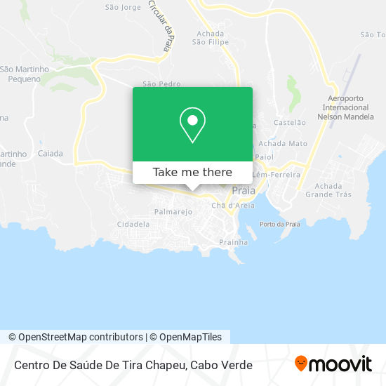 Centro De Saude De Tira Chapeu mapa