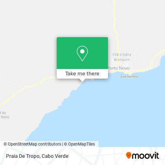 Praia De Tropo mapa