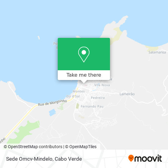 Sede Omcv-Mindelo mapa
