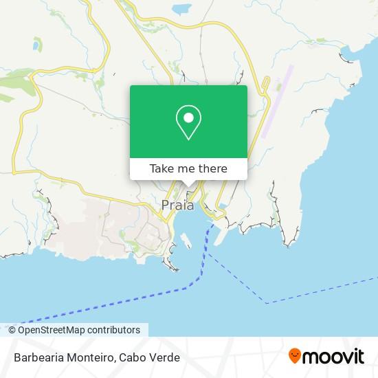 Barbearia Monteiro mapa
