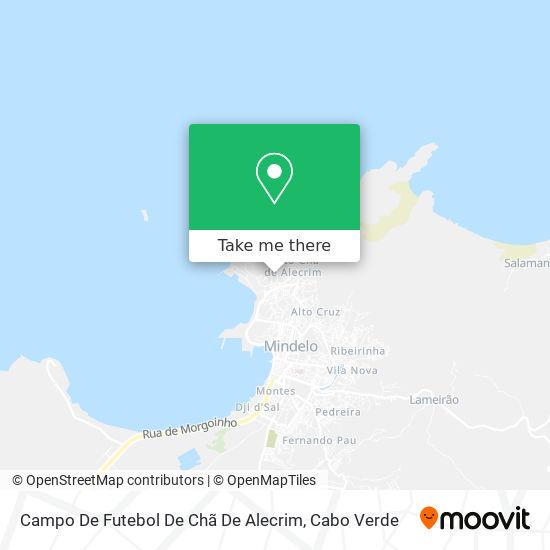 Campo De Futebol De Chã De Alecrim mapa
