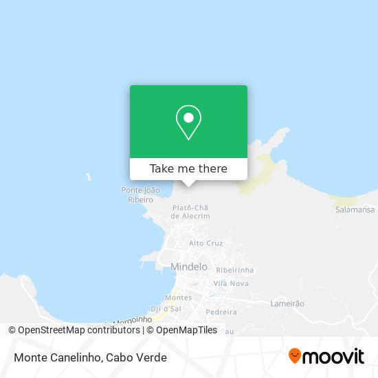 Monte Canelinho mapa