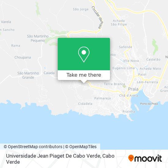 Universidade Jean Piaget De Cabo Verde mapa