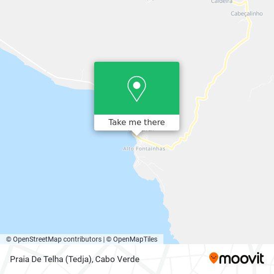 Praia De Telha (Tedja) mapa
