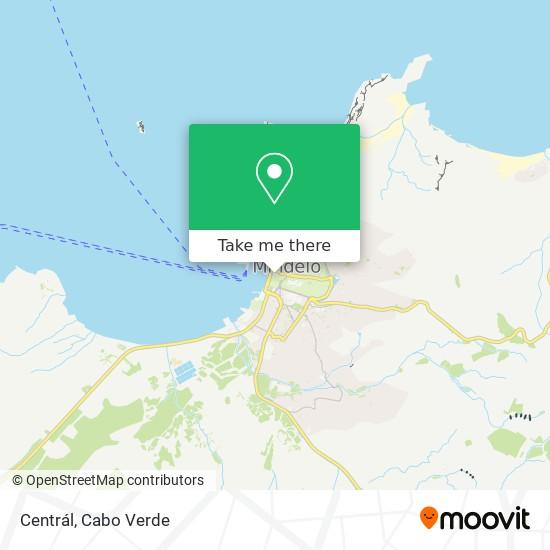 Centrál mapa